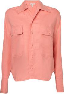 Camisa Rosa Chá Adele Jeans Laranja Feminina (Canyon Clay, G)