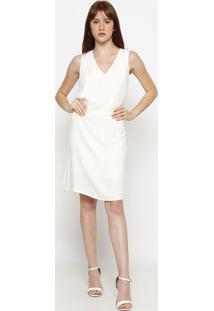 Vestido Texturizado- Bege Clarohering