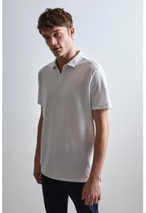 Camisa Polo Reserva Abertura Frontal Masculino - Masculino-Branco