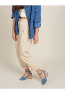 Anabela Suede Nó - Jeans 34