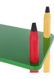 Prateleira Colorida Em Madeira E Mdf 5016 Carlu 24 Peças - Carlu - Kanui