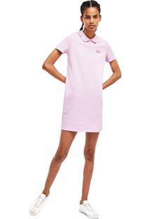 Vestido Lacoste Live Slim Fit Rosa