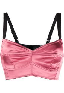 Dolce & Gabbana Blusa Cropped - Rosa