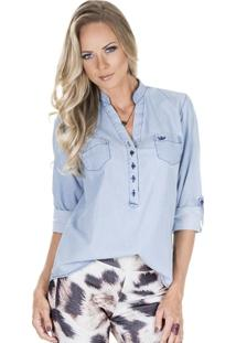 Camisa Jeans Principessa Desiree - Feminino