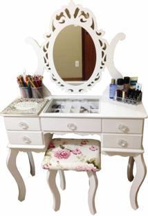 Penteadeira Filomena Mena Mena Espelho Branca