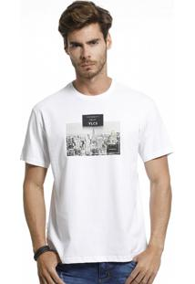 Camiseta Vlcs Slim Fit Branca