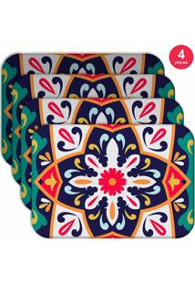Jogo Americano Love Decor Wevans Mandala Green Kit Com 4 Pçs