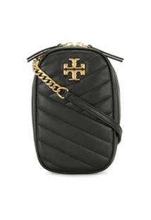 Tory Burch Bolsa Transversal Kira North-South - Preto