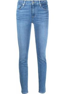 Paige Calça Jeans Skinny Cintura Alta - Azul