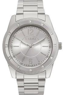 Relógio Feminino Euro Eu2035Ymp/3K 45Mm Pulseira Aço Prata - Feminino-Prata
