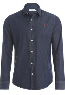 Camisa Easy Oxford - Azul