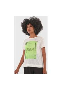 Camiseta Osklen Sustainable Off-White/Verde