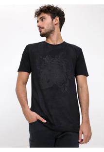 Camiseta Caveira Em Suede