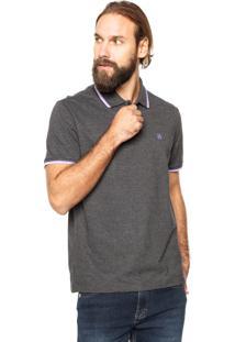 Camisa Polo John John Lines Cinza