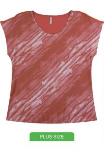 Blusa Com Decote Redondo Vermelho