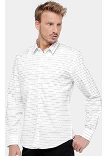 Camisa Social Ellus All We Have Is Now Masculino - Masculino-Branco