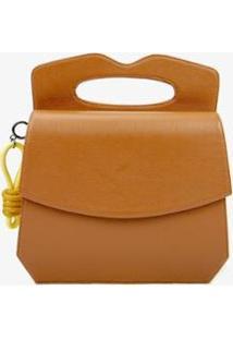 Bolsa Handbag Soleah Manton Feminino - Feminino-Caramelo