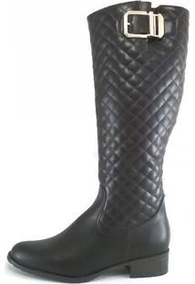 Bota Montaria Rr Shoes Matelassê Marrom