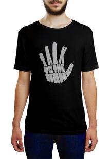 Camiseta Hunter Fale Com A Mão Preta