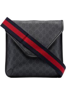 Gucci Gg Supreme Envelope Messenger Bag - Preto