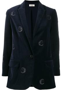 Zadig&Voltaire Viva Embroidered Blazer - Azul