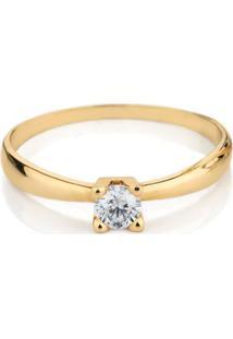 18a1c338d4833 ... Anel Solitario Em Ouro Amarelo 18K Com Diamante - Forever 19