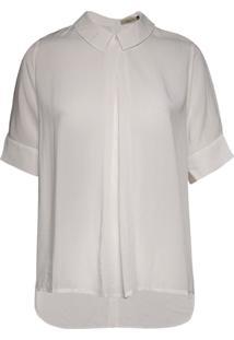 Camisa Feminina Botões Costas Mullet Off White