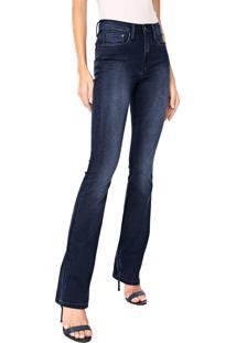 Calça Jeans Calvin Klein Reta Estonada Azul-Marinho