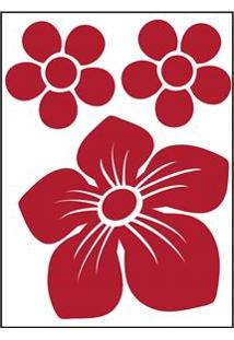 Adesivo De Parede Kapos Floral 20X30Cm