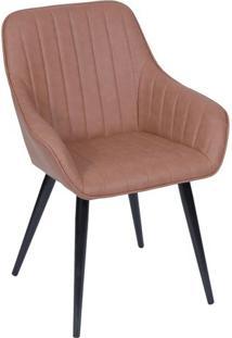 Cadeira Florenã§A - Caramelo & Preta - 84X60X41,5Cm
