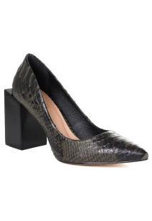 Sapato Scarpin Feminino Zariff Salto Quadrado