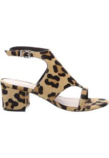 Sandália Block Heel Cover Up Pony | Schutz