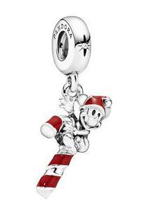 Charm Pendente Doce De Natal Do Mickey Papai Noel- Pratapandora