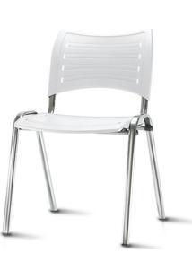 Cadeira Iso Assento Branco Base Cromada - 54036 Sun House