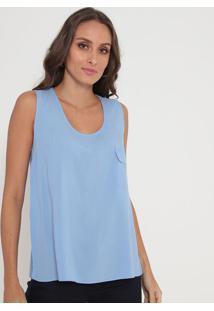 Blusa Com Bolso- Azul Claro- Lança Perfumelança Perfume