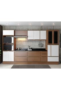 Cozinha Completa Multimã³Veis Com 11 Peã§As Calã¡Bria 5450R Nogueira/Branco - Incolor/Marrom - Dafiti