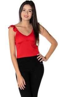Blusa Cropped - Vermelhadwz