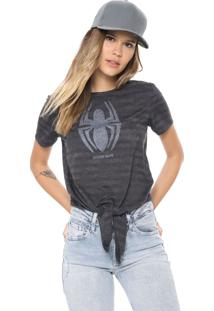 Blusa Cativa Marvel Spider Man Grafite