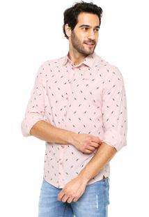 Camisa Colcci Reta Rosa