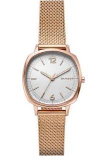 Relógio Skagen Rungsted Mini Feminino - Feminino-Bronze