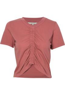 Camiseta Rosa Chá France Rosa Malha Algodão Rosa Feminina (Whitered Rose, Pp)