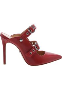 New Quereda Strap Mule High Changeable Red | Schutz