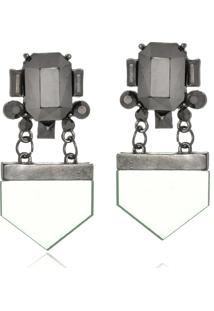 Brinco Le Diamond Espelhado Geométrico