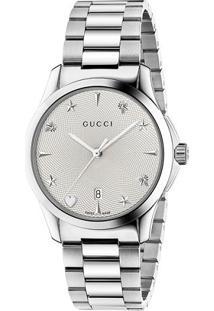 e678f29925e Vivara Relógio Aço De Grife Feminino Gucci - Ya1264028