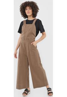 Macacão Sarja Osklen Pantalona Utilitário Bege