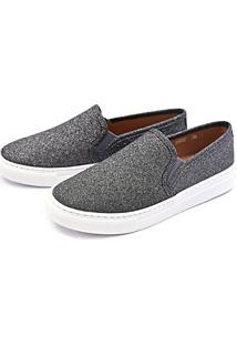 Slip On Casual Dhl Feminino Grafite - Kanui