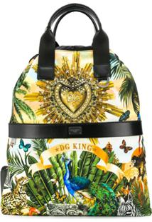Dolce & Gabbana Mochila Com Estampa 'Tropical King' - Preto
