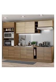 Cozinha Completa Madesa Stella 290001 Com Armário E Balcão Rustic/Saara Cor:Rustic/Rustic/Saara