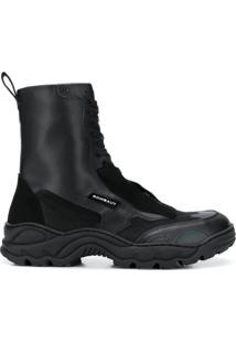 Rombaut Ankle Boot Com Solado Rígido - Preto