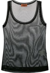 Missoni Sheer Knitted Vest Top - Preto